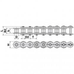 Reťaz SKF 08B-1 cena za 1bm