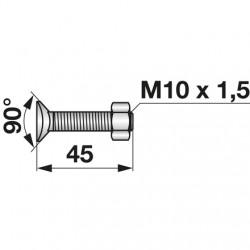 Skrutka + matica M10x45...