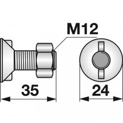 Skrutka + matica M12x35...