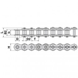 Reťaz SKF 12B-1 cena za 1bm
