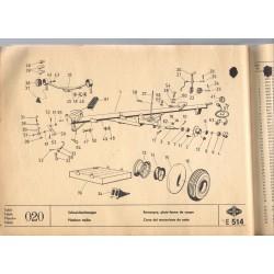 vozík žacej lišty E514
