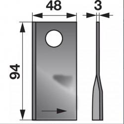 nôž ŽTR -185 ľavý