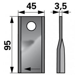 nôž KUHN 410409 pravý