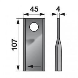 nôž KUHN 410411 pravý