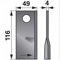 nôž KRONE 410393 ľavý