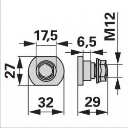 skrutka KRONE M12x29