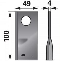 nôž Pöttinger 410580 pravý