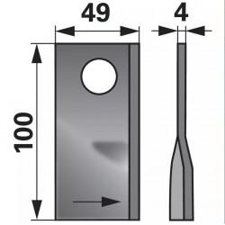 nôž Pöttinger 410581 ľavý